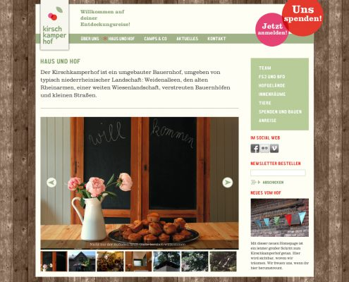 Website Kirschkamperhof
