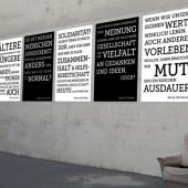 Werte.Zusammen.Leben. Plakatserie