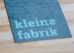 "Corporate Design für ""kleine Fabrik"""