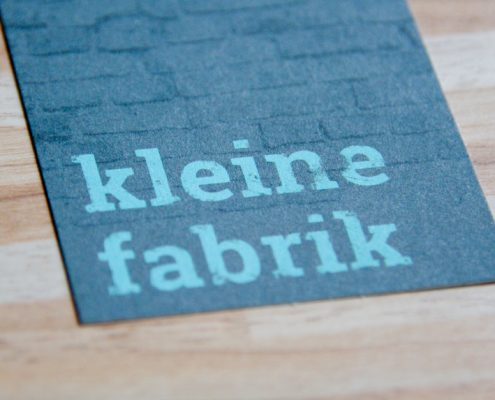 """Corporate Design für """"kleine Fabrik"""""""