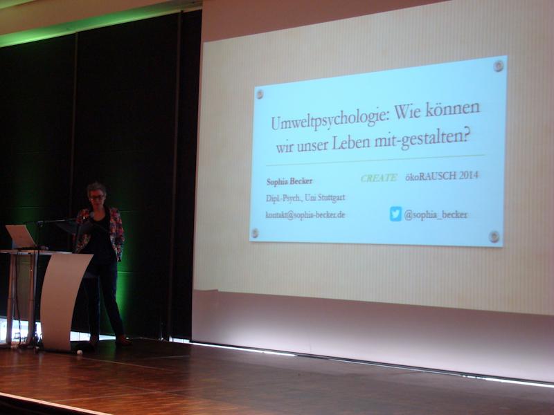 ökoRAUSCH Symposium: Sophia Becker (Umweltpsychologin)
