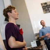 """""""Yoga für unterwegs"""" beim Green Blogger Meetup (Foto © von Kosta Kosta)"""