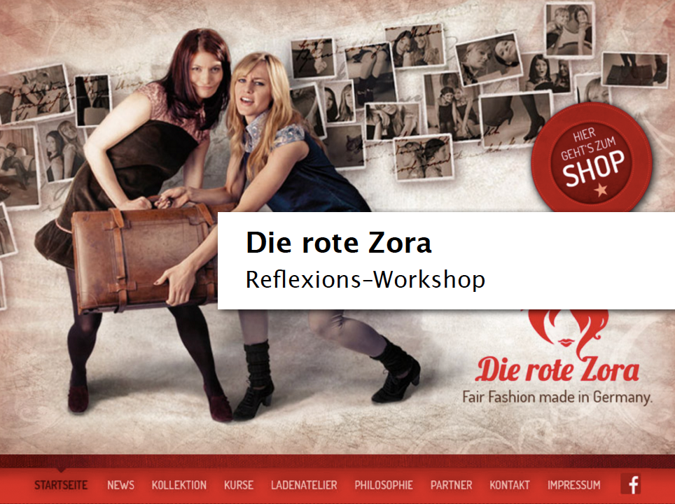 "Refelxionsworkshop ""Die rote Zora"""